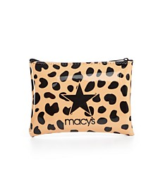 Camel Leopard Logo Pouch, Created for Macy's