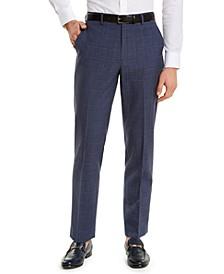 Men's Classic-Fit UltraFlex Navy Windowpane Suit Separate Pants