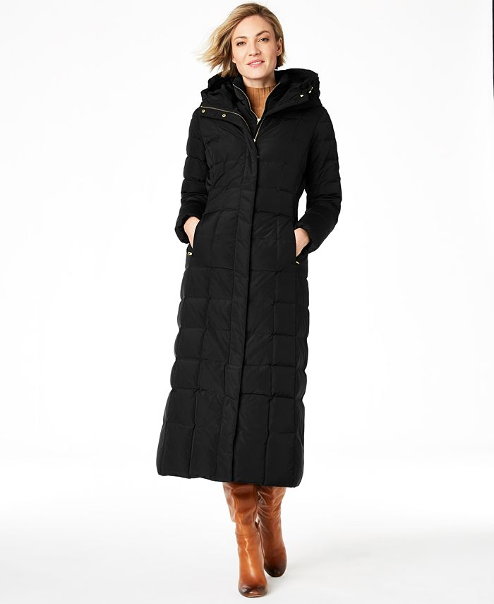 Cole Haan - Hooded Down Maxi Puffer Coat