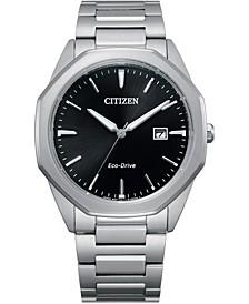 Eco-Drive Men's Corso Stainless Steel Bracelet Watch 41mm