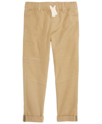 Little Boys Stretch Twill Moto Chino Pants, Created for Macy's
