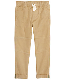 Epic Threads Little Boys Stretch Twill Moto Chino Pants, Created for Macy's