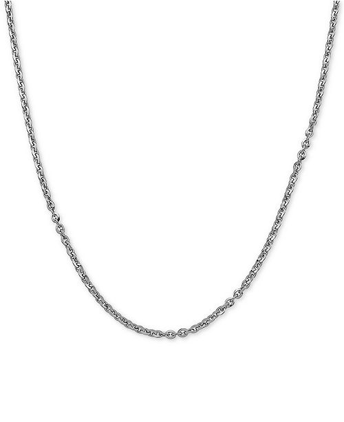 """Macy's Oval Link Cable 20"""" Chain Necklace in Sterling Silver"""