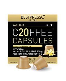 Coffee Vaniglia Flavor 120 Capsules per Pack for Nespresso Original Machine