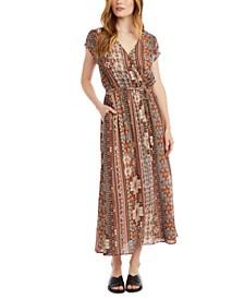 Printed Surplice Maxi Dress