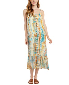 Tie-Dye Ruffle Hem Dress
