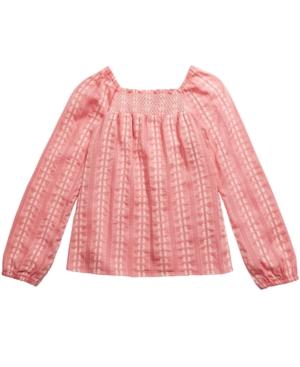 Belle Du Jour Big Girls Smocked Top
