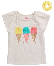 Little Girls 2-Pc. Ice Cream T-Shirt & Scrunchie Set, Created For Macy's