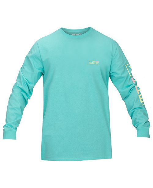 Hurley Men's One & Only Box Gradient Logo Long Sleeve T-Shirt