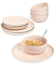 Modern Porcelain 12-Pc. Dinnerware set, Service for 4, Created for Macy's