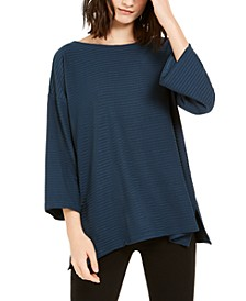 Ribbed Boat-Neck Top