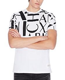 Half Design Crew Neck T-Shirt