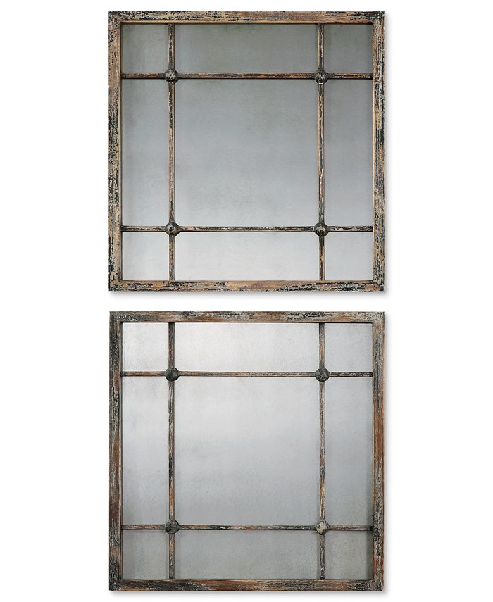 Uttermost - Mirrors, Set of 2 Saragano Squares