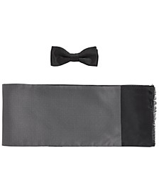 BOSS Men's Bow Tie & Scarf Set