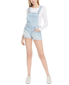 Juniors' Denim Shortalls