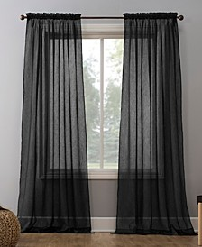 "No. 918 Crushed Voile 51"" x 63"" Sheer Curtain Panel"