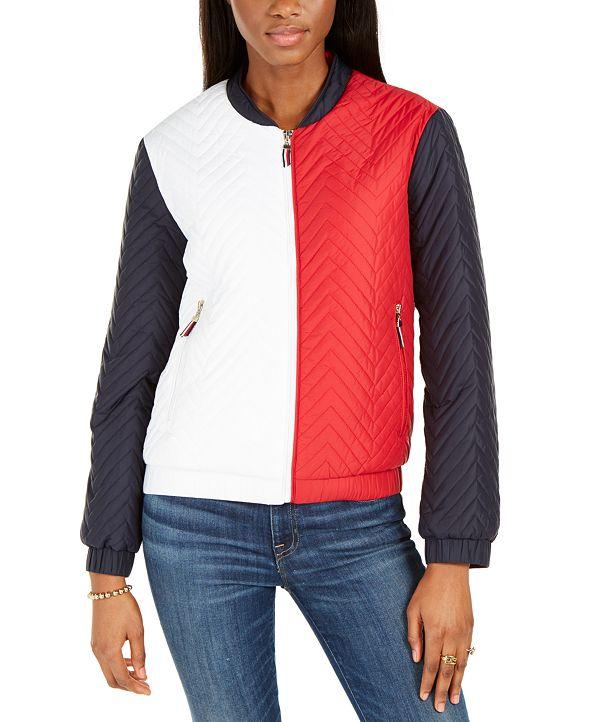 Tommy Hilfiger Colorblocked Bomber Jacket
