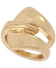 Gold-Tone Sculptural Layered Ring