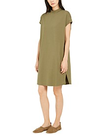 Mock-Neck Dolman-Sleeve Dress