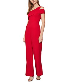 One-Shoulder Peplum Jumpsuit