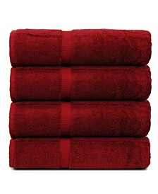 Luxury Hotel Spa Towel Turkish Cotton Bath Towels, Set of 4