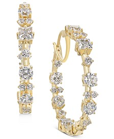 "Medium Cubic Zirconia Hoop Earrings, 1.25"", Created for Macy's"