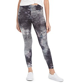 Juniors' Tie-Dyed Leggings