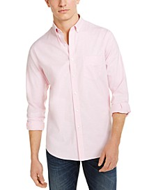 Men's Solid Stretch Oxford Cotton Shirt, Created for Macy's