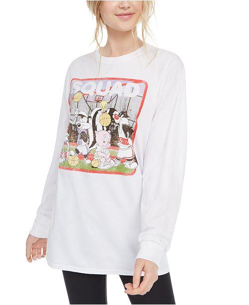 Warner Brothers Juniors' Long-Sleeve Squad T-Shirt