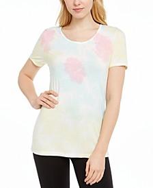Tie-Dyed Lattice-Back Top, Created for Macy's
