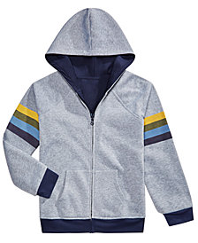 Epic Threads Big Boys Reversible Hooded Fleece Jacket, Created for Macy's