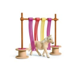 Schleich Farm World, Pony Curtain Obstacle Playset With Toy Figures
