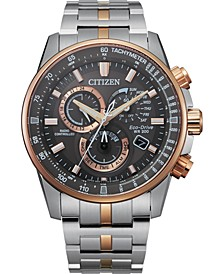 Eco-Drive Men's PCAT Two-Tone Stainless Steel Bracelet Watch 43mm - A Limited Edition