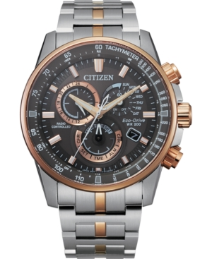 Eco-Drive Men's Pcat Two-Tone Stainless Steel Bracelet Watch 43mm