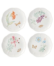 Butterfly Meadow Gold - 20th Anniversary Accent Plate Set/4 Assorted