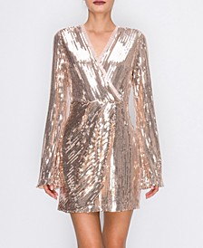 Sequin Wrap Dress