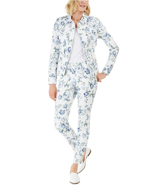 Charter Club Floral Jacket & Jean, Created for Macy's