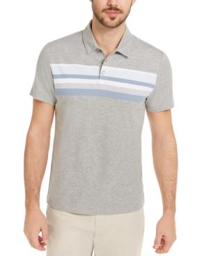 Men's Honeycomb Striped Polo Shirt