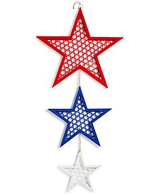 CLOSEOUT! Americana 3-Star Linked Hanging Décor, Created for Macy's