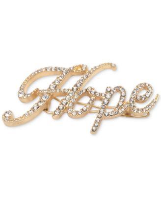 Gold-Tone Pavé Hope Hair Barrette