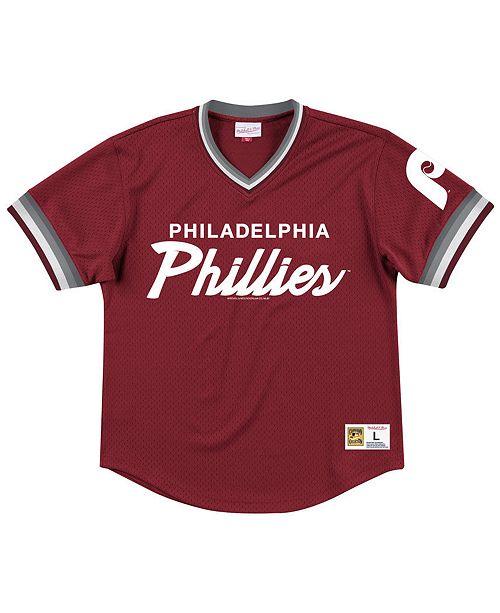 Mitchell & Ness Men's Philadelphia Phillies Script Mesh Jersey