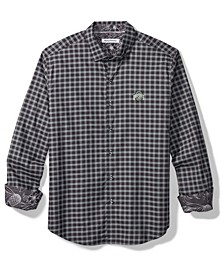 Men's Ohio State Buckeyes Sport Competitor Check Button Up Shirt