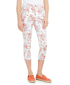Floral Printed Bristol Capri Jeans, Created for Macy's