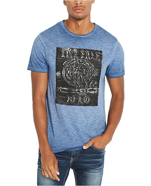 Buffalo David Bitton Men's Heathered Live Free Graphic T-Shirt