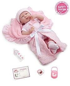 "Soft Body La Newborn 15.5"" Baby Doll in Deluxe Gift Set for Children 2 Years and Older, Designed by Berenguer"