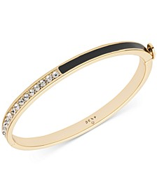 Gold-Tone Pavé Bangle Bracelet