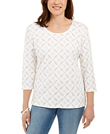 Petite Dragonfly-Print Top, Created for Macy's