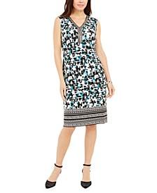 Printed Beaded Sleeveless Dress, Created For Macy's