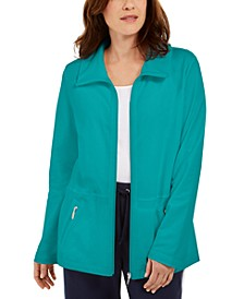 Wing Collar Zip-Front Jacket, In Regular and Petite, Created for Macy's