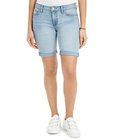 Juniors' Cuffed Bermuda Shorts